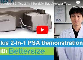 Bettersizer S3 Plus 2-In-1 Particle Size Analyzer Testing Demonstration