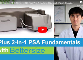 Fundamentals of Bettersizer S3 Plus 2-In-1 Particle Size and Shape Analyzer